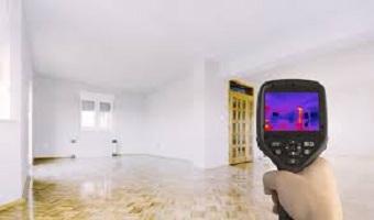 Termografia e aparelho infravermelho para detectar infiltrações e vazamentos