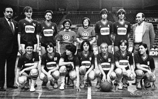 Picadero,rosa castillo,baloncesto femenino,vintage