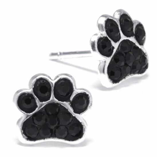 pendientes de huellas de perro