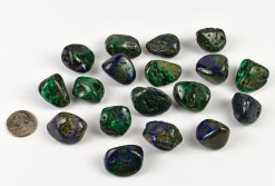 Tumbled Azurite and Malachite