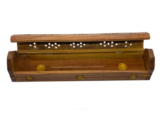 Buddha Wooden Box Incense Burner