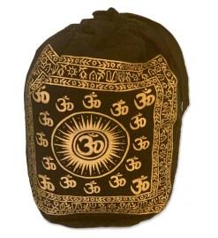 Black & Gold OM Symbol Backpack