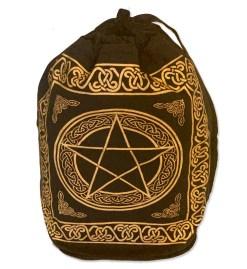 Black & Gold Pentacle Backpack