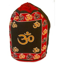 Red & Gold OM Symbol Backpack