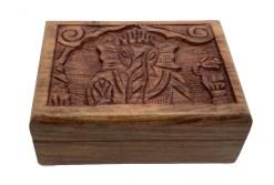 Hand Carved Ganesha Wooden Box