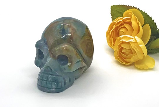 Medium-Sized Jasper Skull