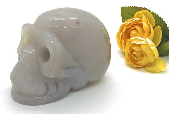 Large Dendritic Agate Skull