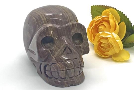 Large Banded Jasper Skull