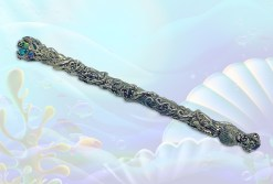 Mermaid Dolphin Wand with Atlantasite and Aqua Aura