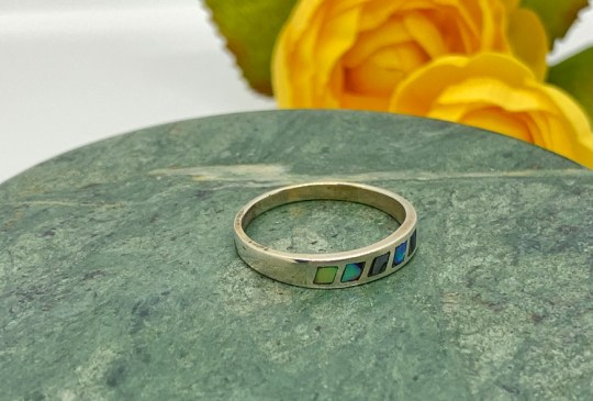 Abalone in Sterling SIlver Ring Size 9