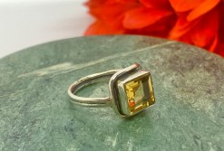 Citrine in Sterling Silver Ring Size 8