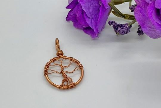 Mini Tree of Life in Copper Pendant