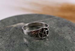 Celtic Pentagram in Sterling Silver Ring