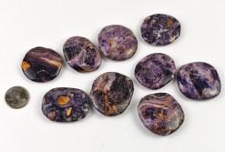 Purple Flower Jasper Medallion