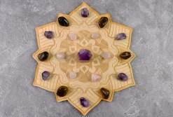 Mandala Crystal Grid with Stones