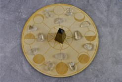 Phases of the Moon Crystal Grid with Stones
