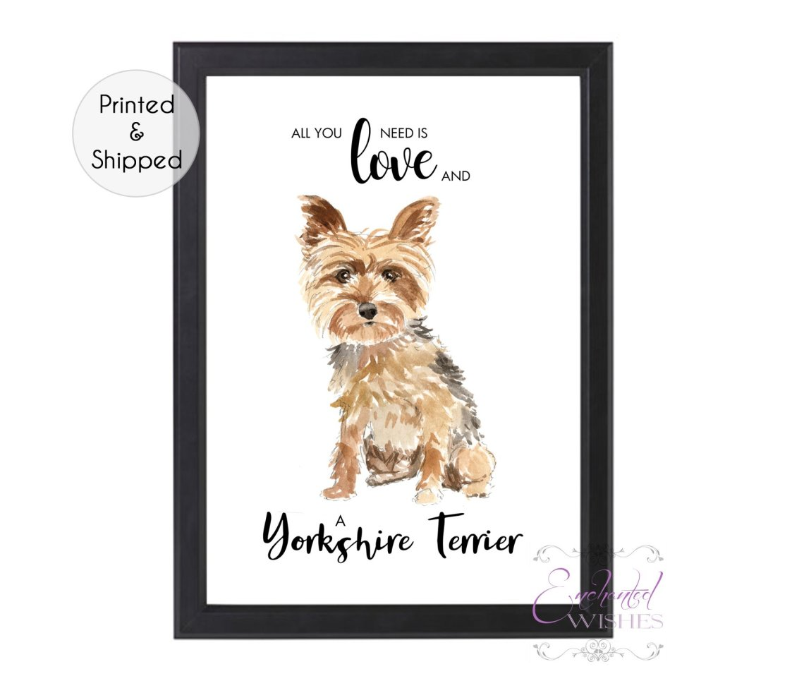 Download All You Need is Love & A Yorkshire Terrier Print   Art ...