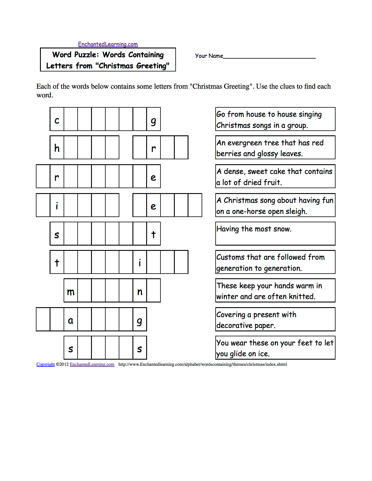 English Mystery Worksheet