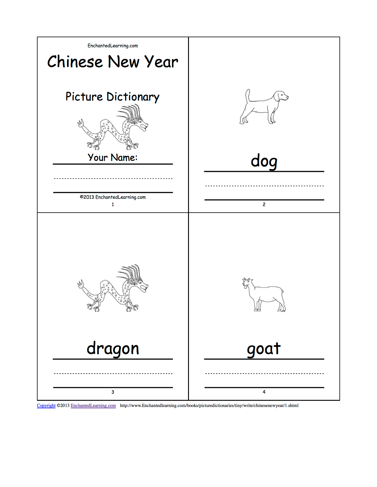 Chinese New Year Picture Dictionary