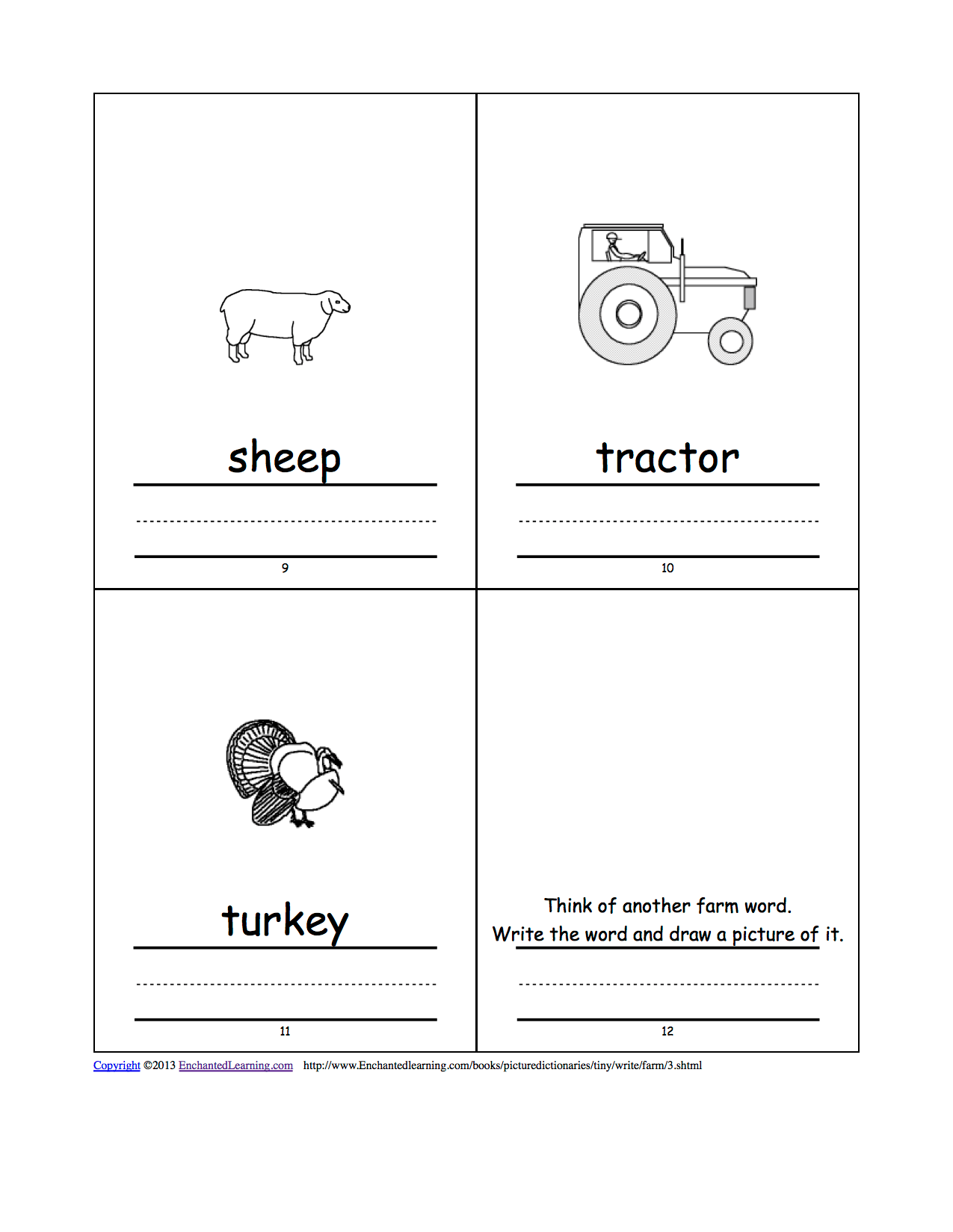 Farm Picture Dictionary