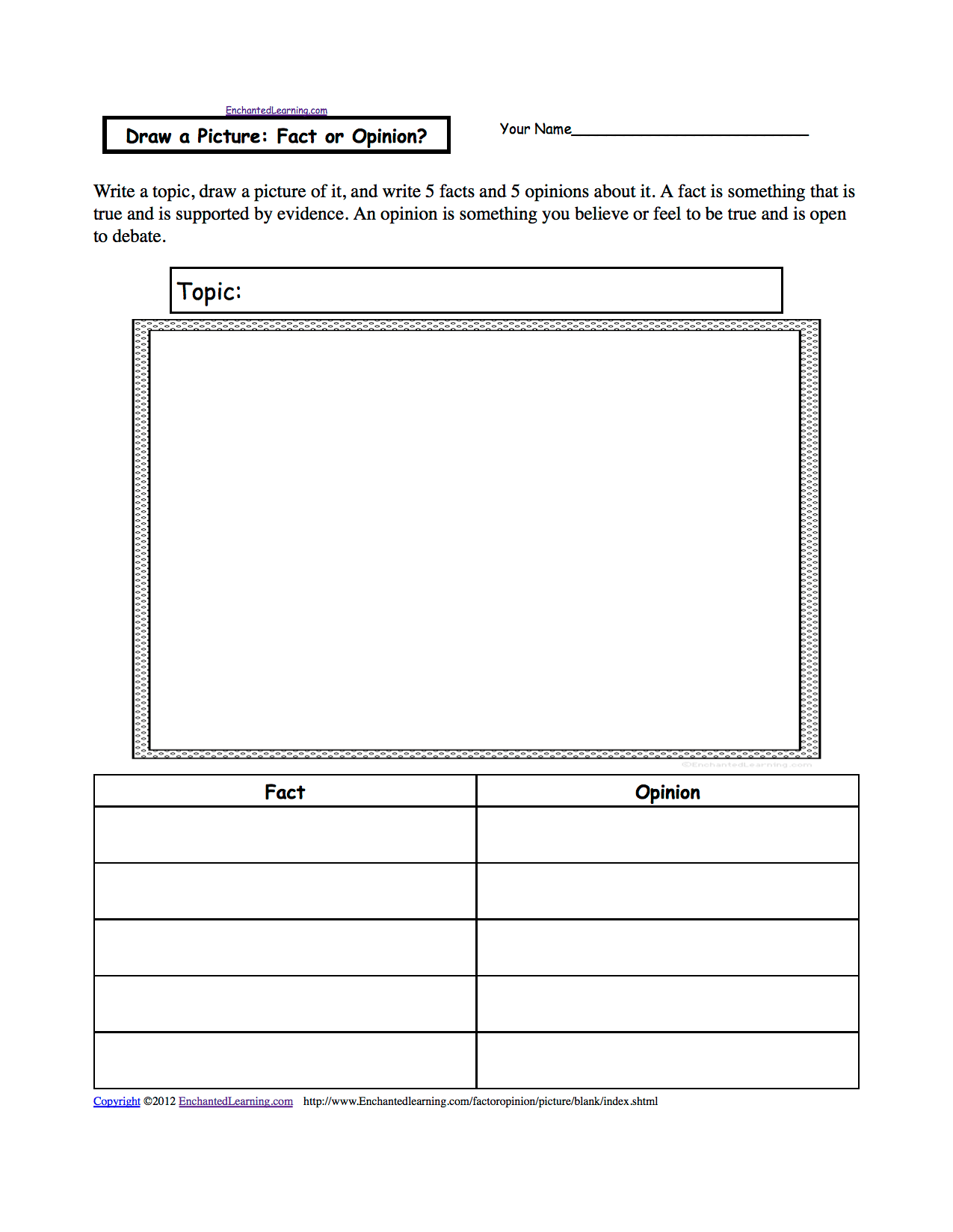 Drawing Theme Page At Enchantedlearning