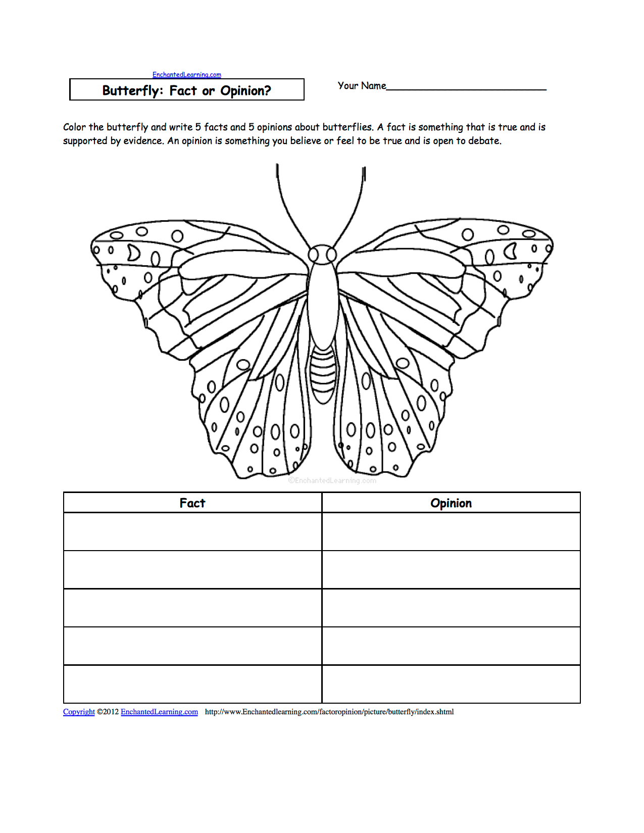 Writing Worksheets Insects At Enchantedlearning