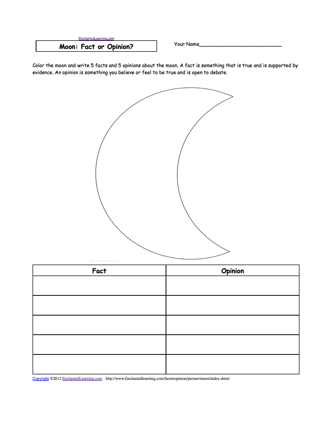 Star Light Worksheet