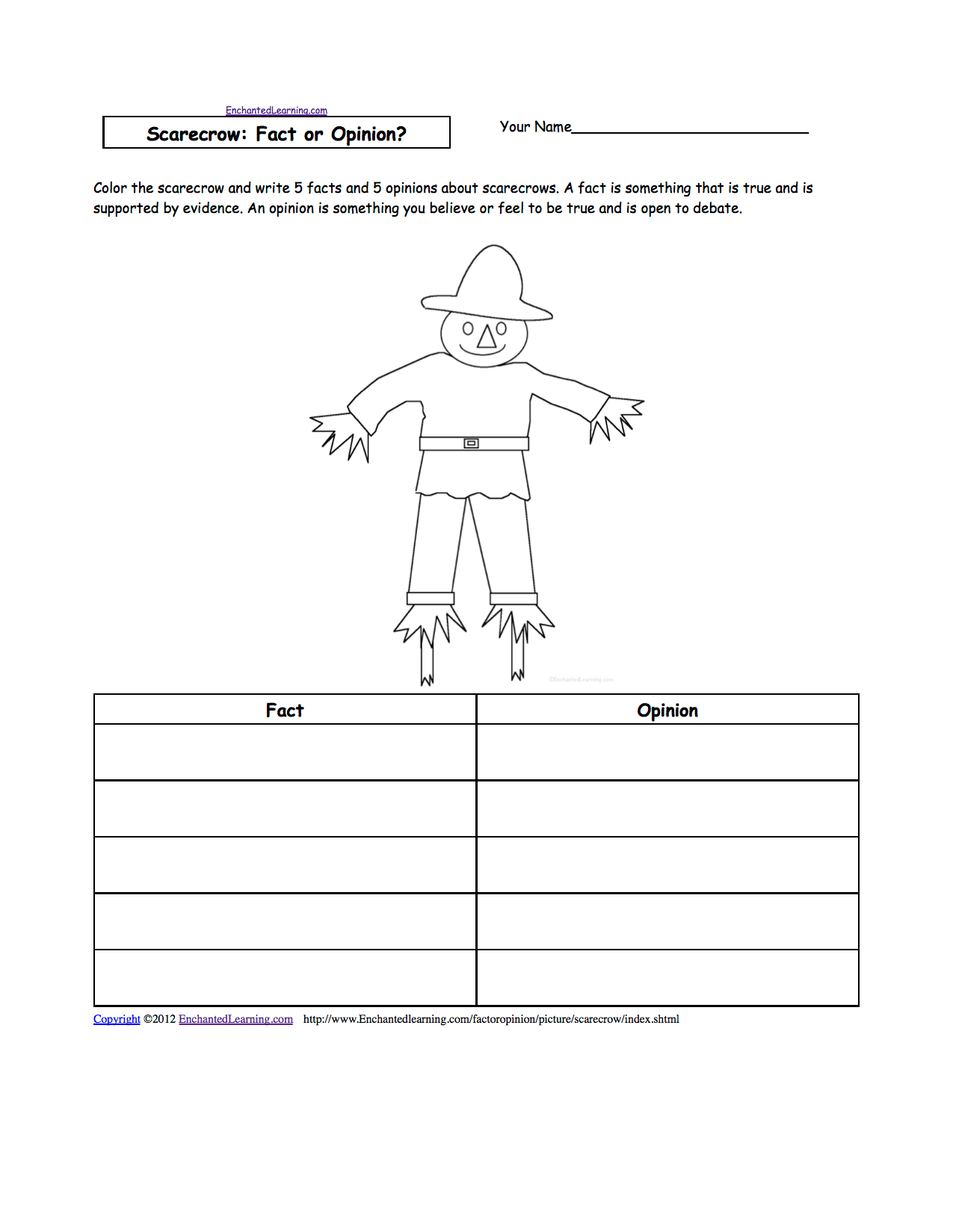 Writing Worksheets Fall Autumn K 3 Theme Page At Enchantedlearning