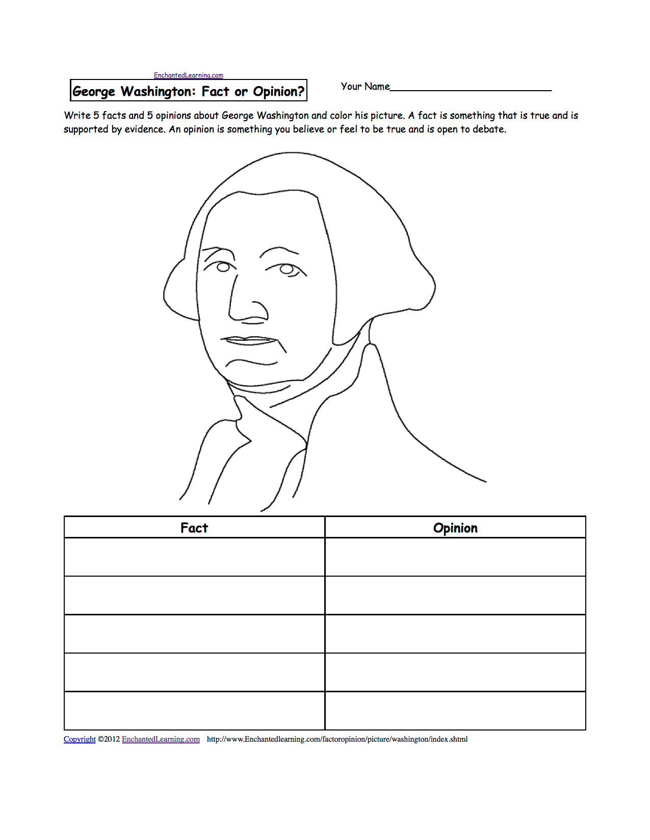 Writing Activities And Worksheets For Presidents Day