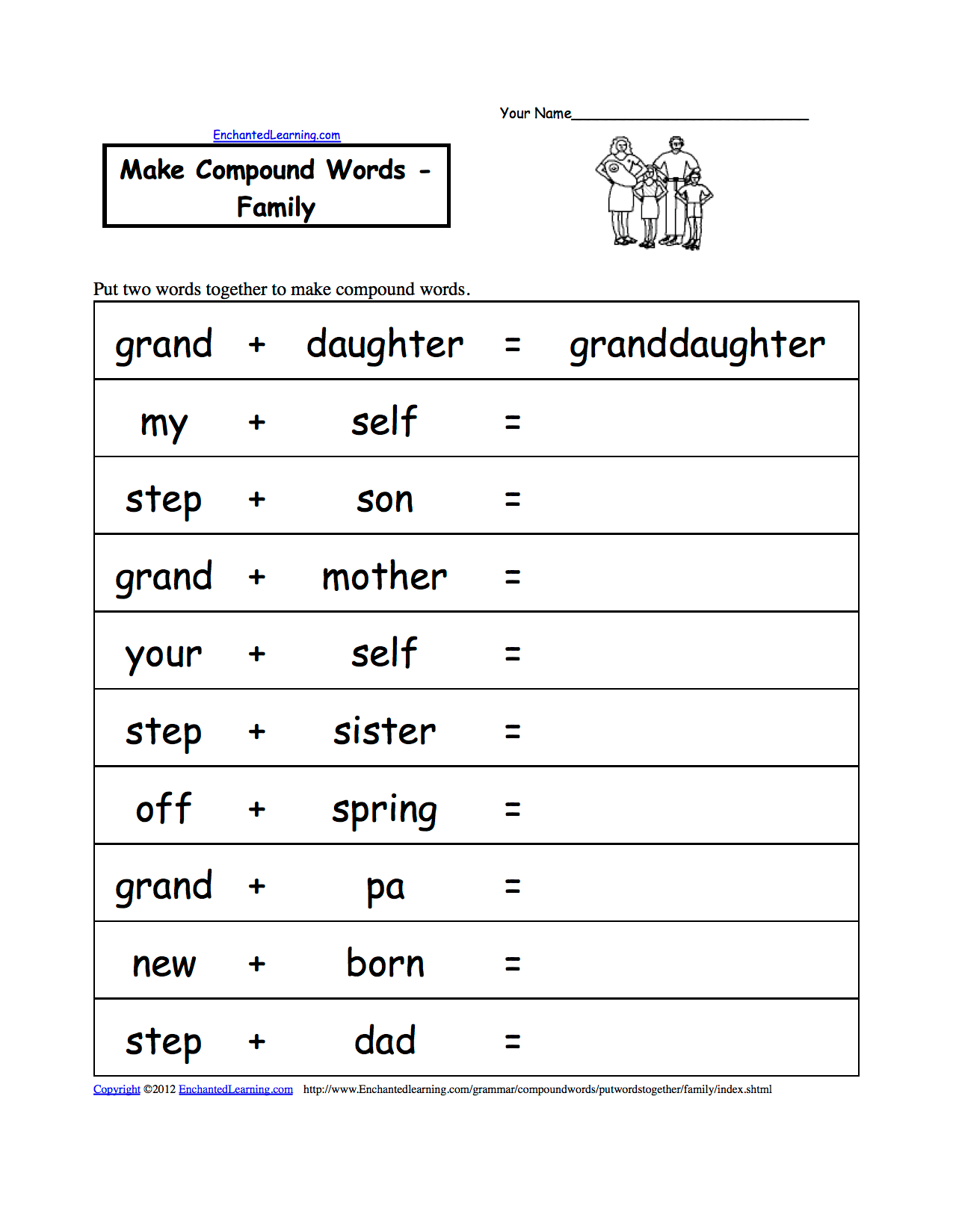 At Word Family Worksheet Kidzone