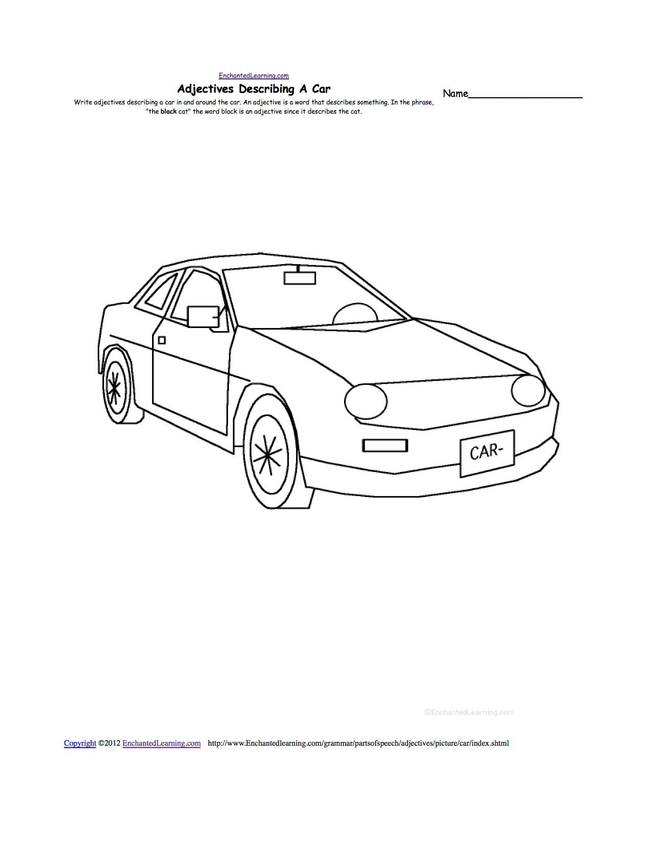 Writing Worksheets Transportation Vehicles At