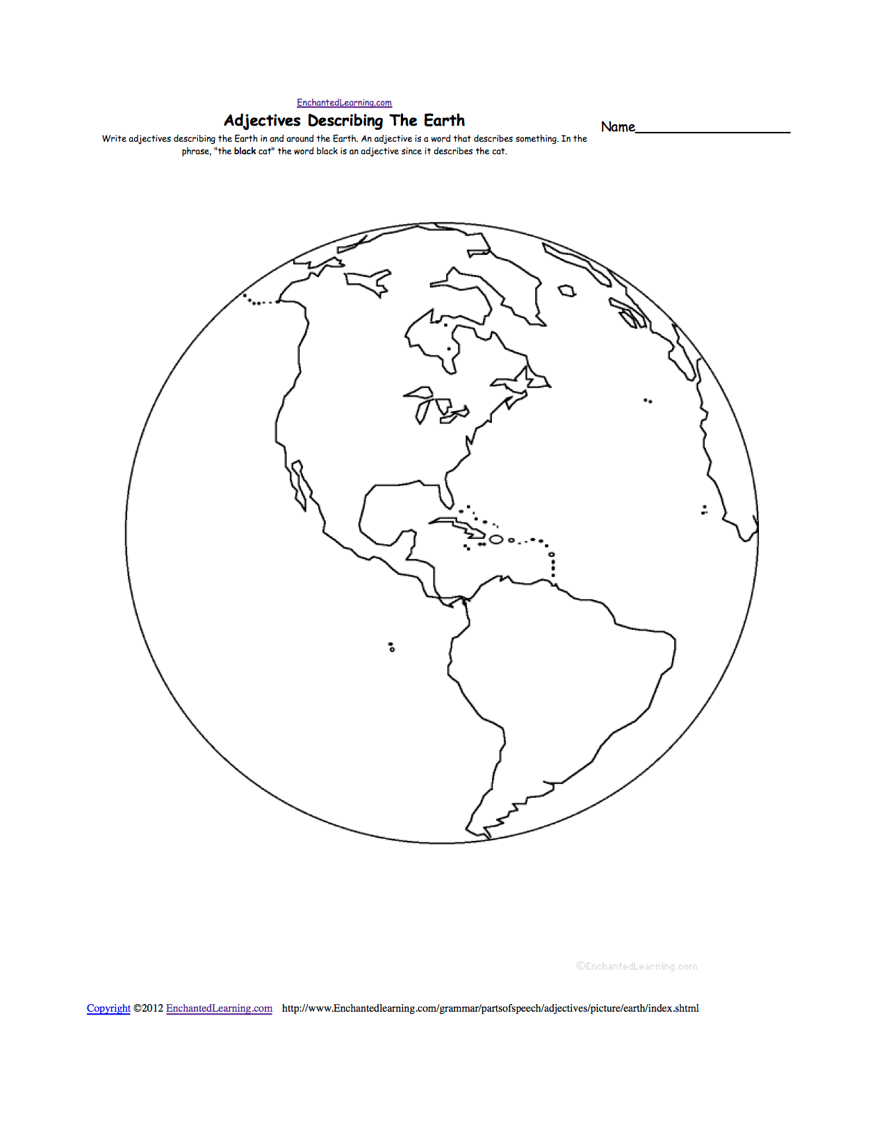 Map And Globe Worksheet Kindergarten Sketch Coloring Page