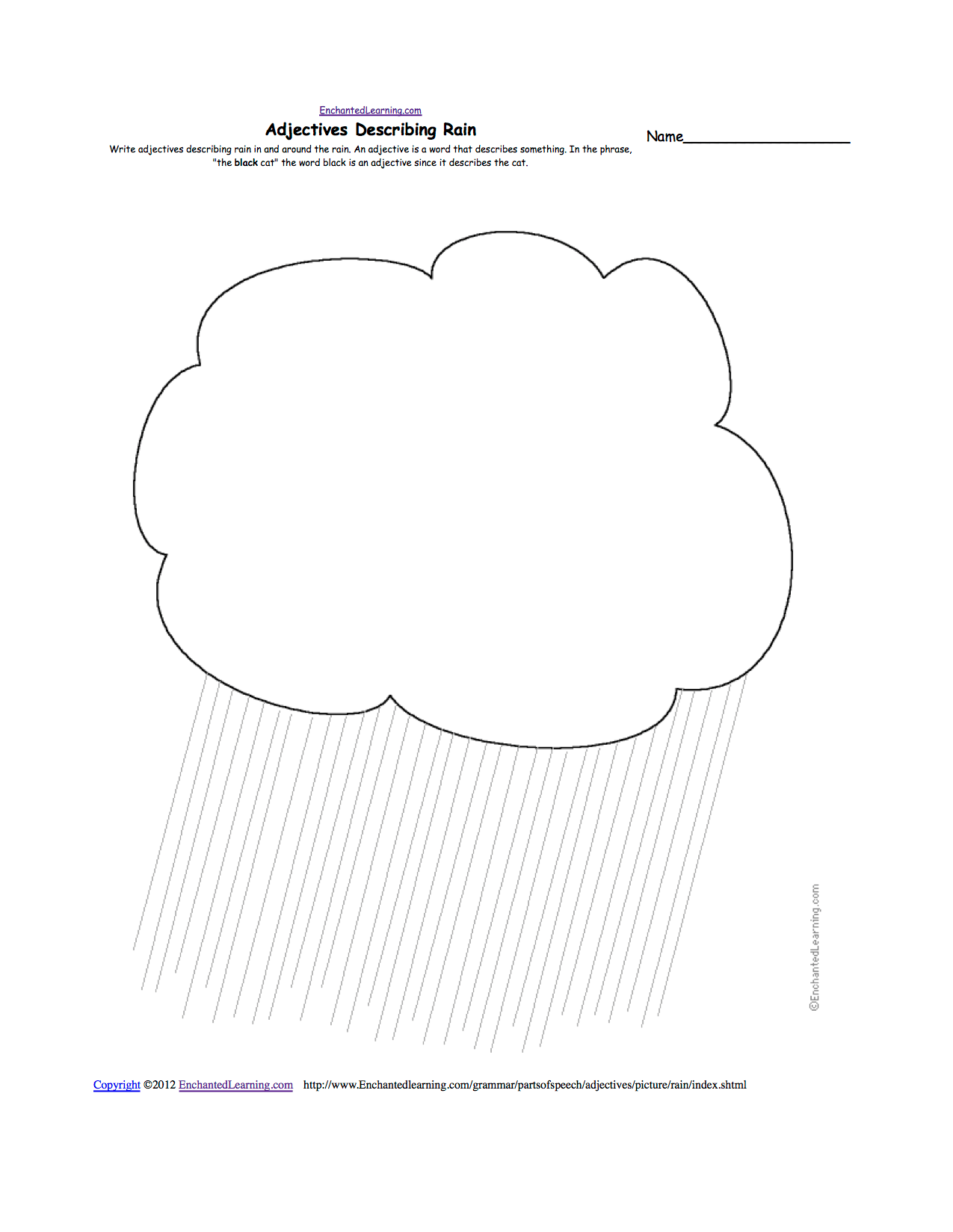 Writing Worksheets Spring Theme Page At Enchantedlearning