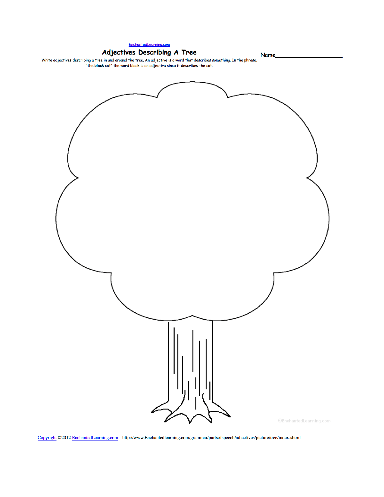 Fruit Loop Season Tree Worksheet