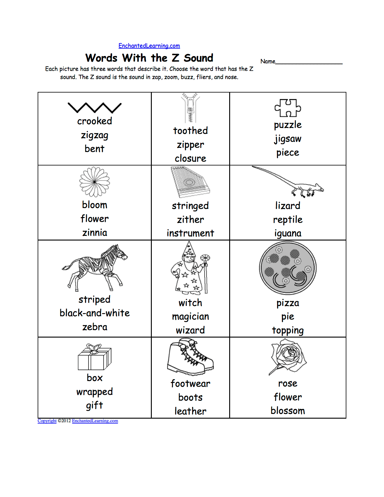 Phonics Picture Dictionary Activities And Worksheets To Print