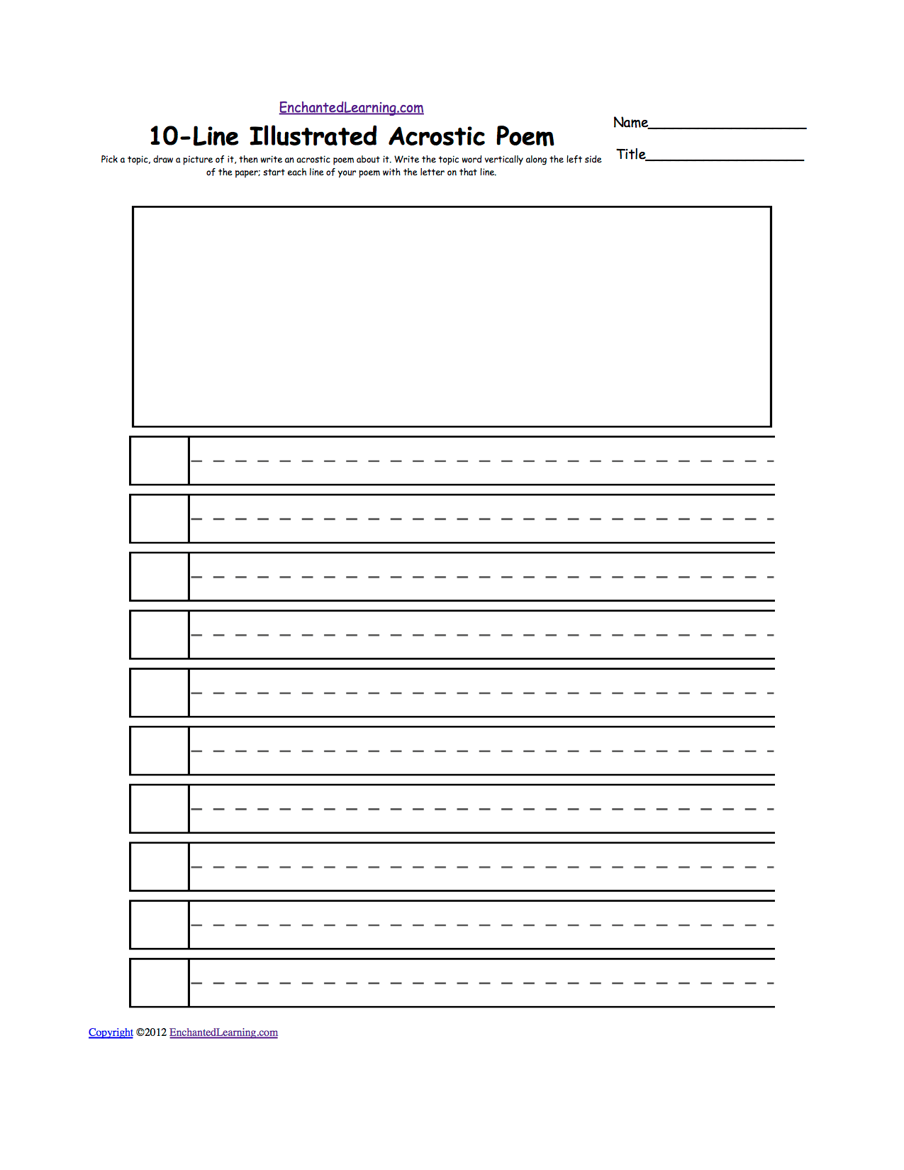 Search Results For Blank Acrostic Poems Template Calendar