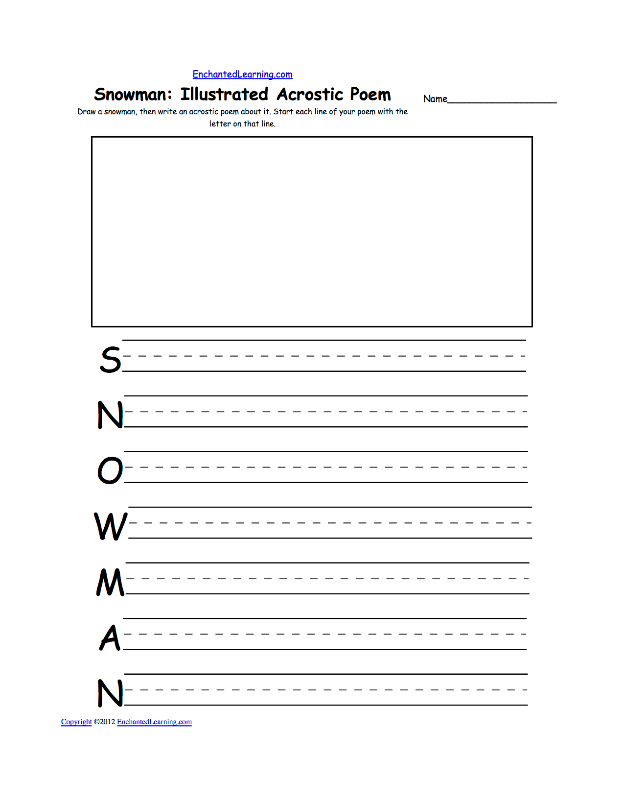 Snow K 3 Theme Page At Enchantedlearning