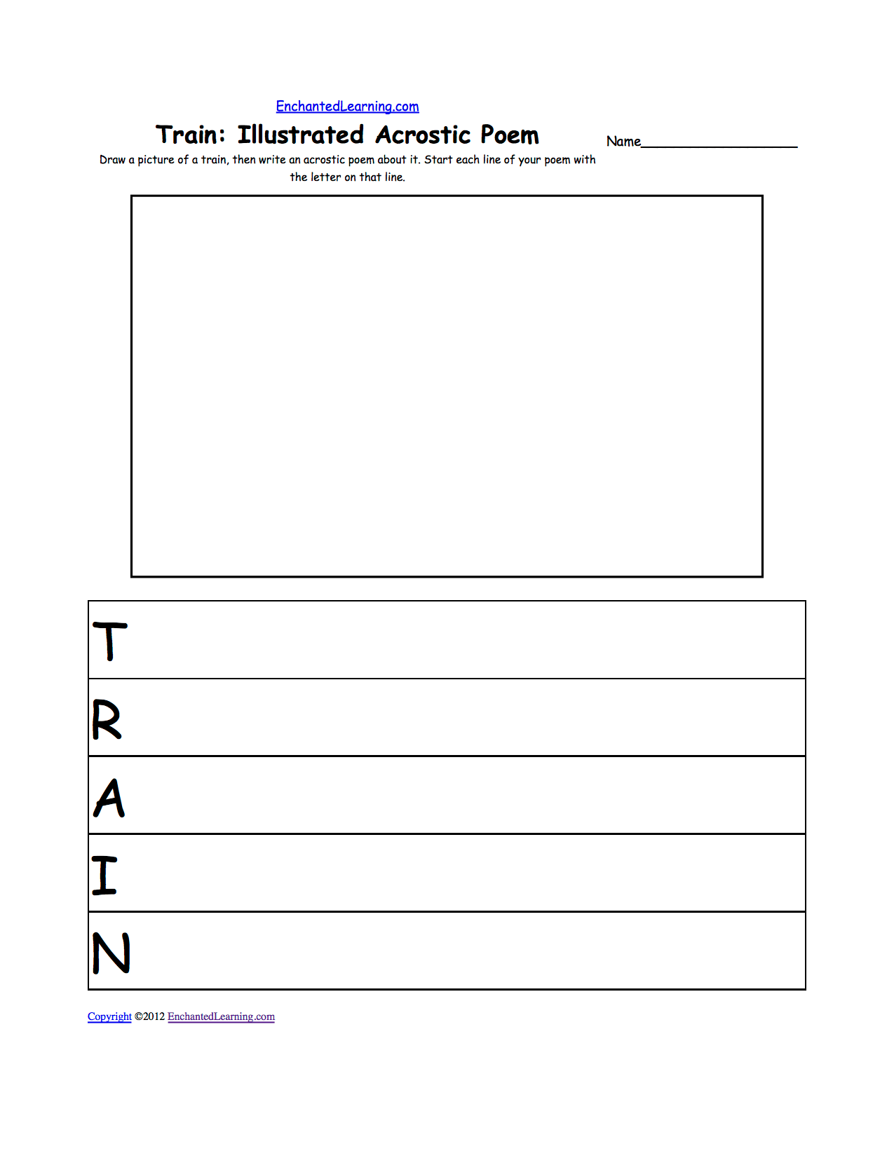 Vehicle Transportation Acrostic Poems Enchantedlearning