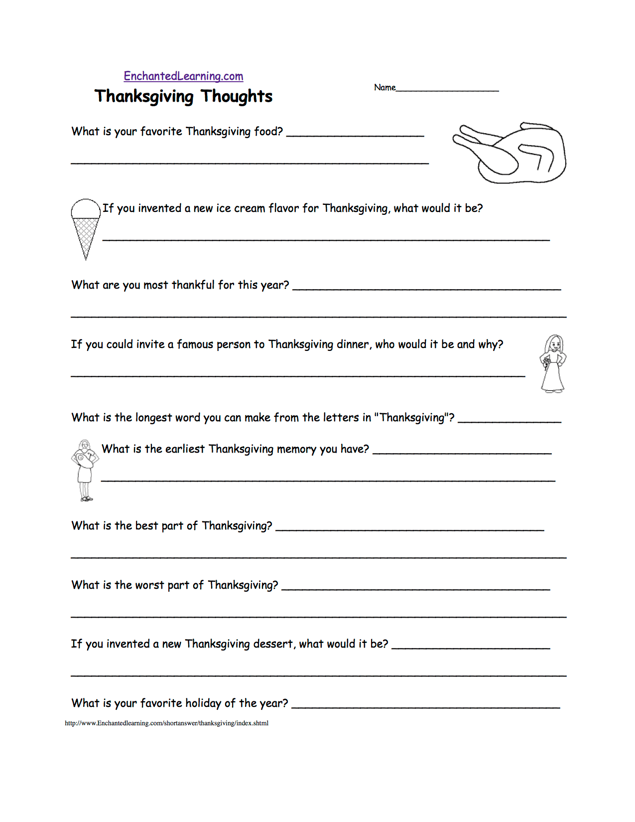 Thanksgiving Crafts Worksheets And Activities