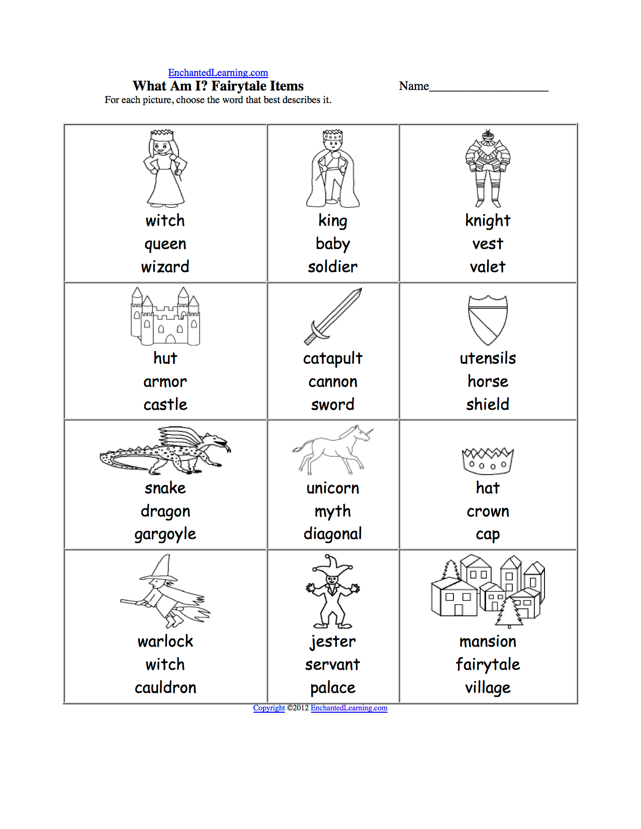 Castle Activity Worksheet For Preschool