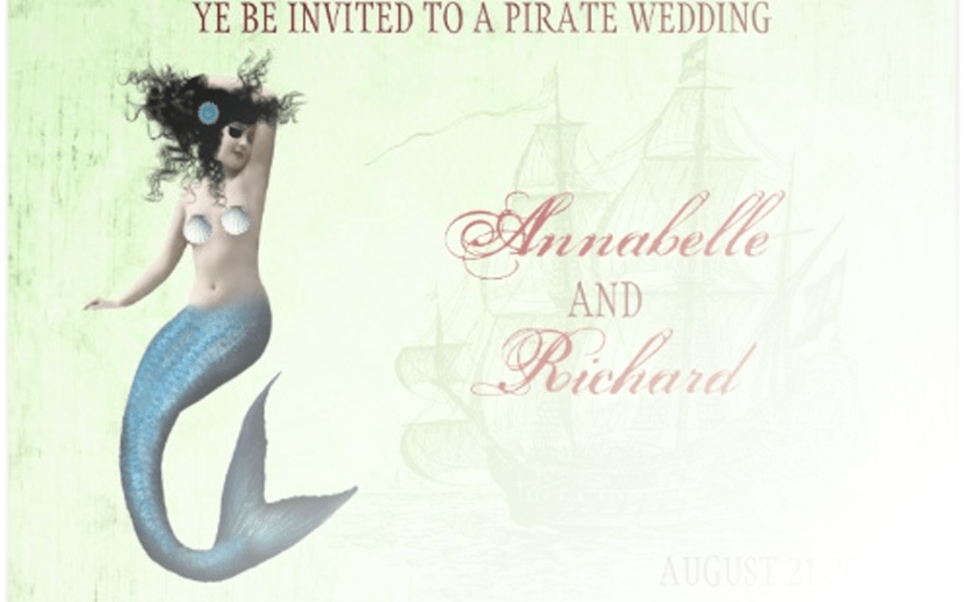 Mermaid wedding invitations on Zazzle