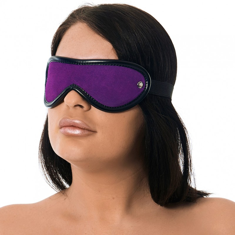 Padded Royal Purple Leather Blindfold