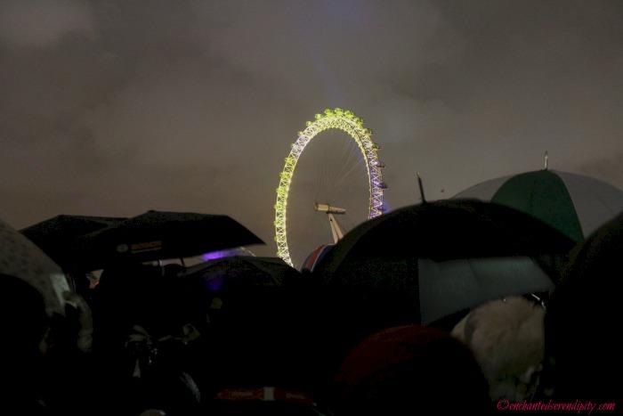 London NYE Fireworks...The Heavens Opened 5 Minutes Before