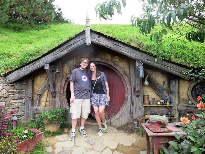 Natasha & Her Husband In Hobbiton