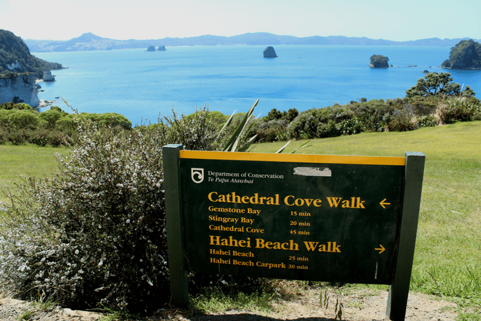 Cathedral Cove Walk Sign