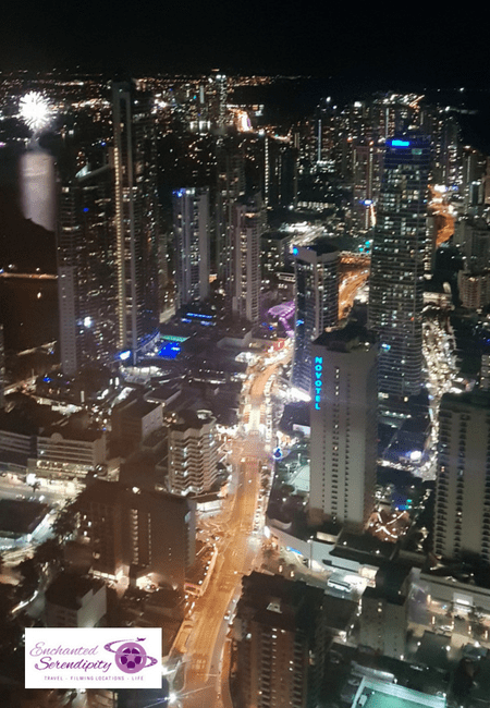 Q1 Skypoint Observation Deck Gold Coast Australia Fireworks