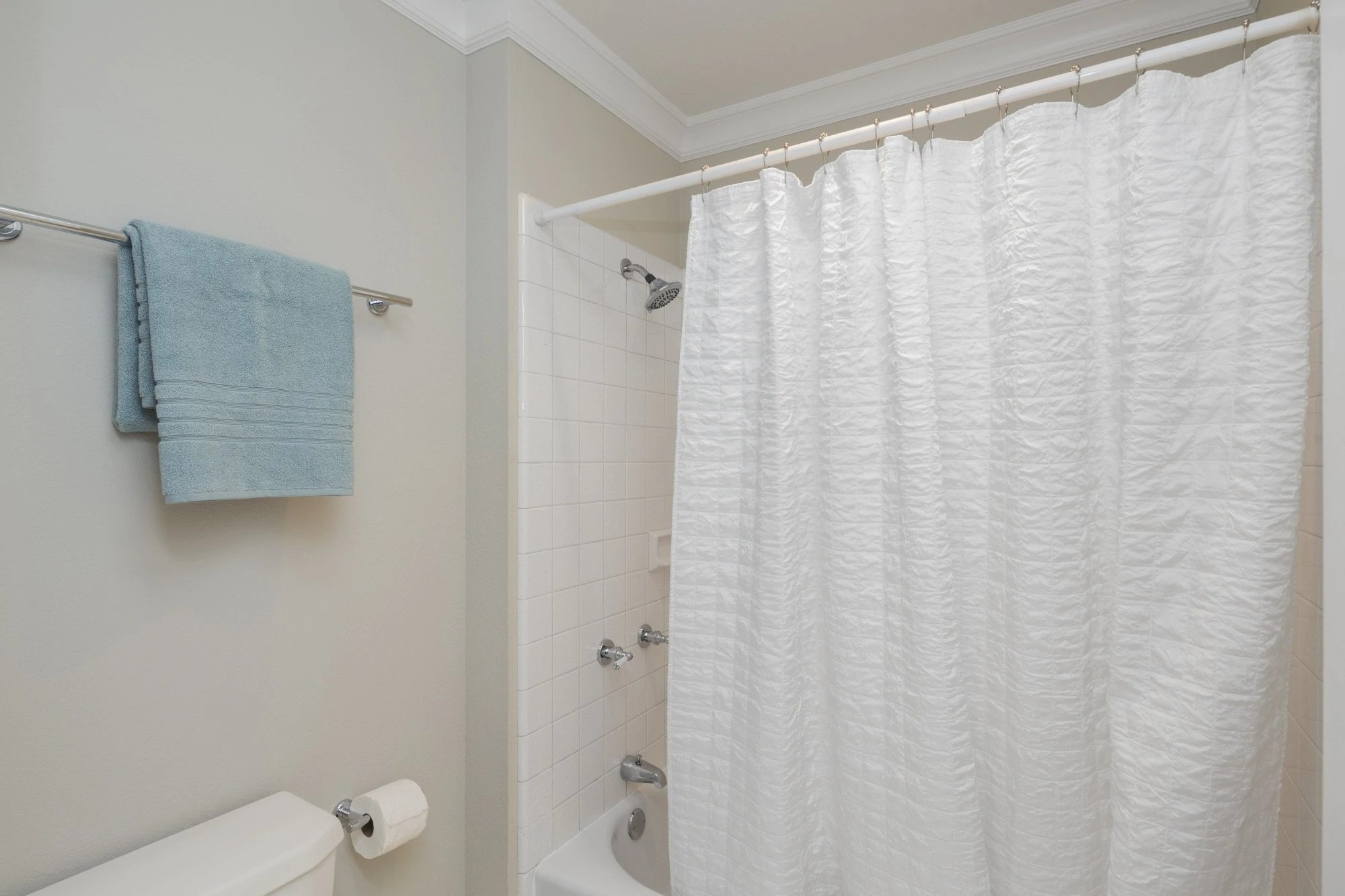 to clean a shower curtain and liner