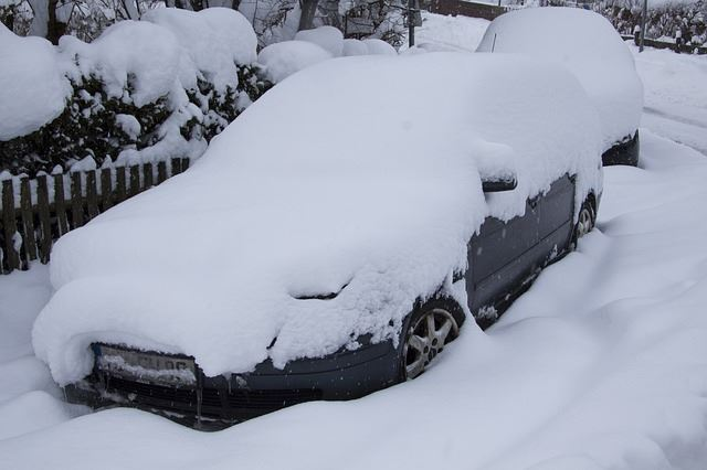 Image result for snow on car