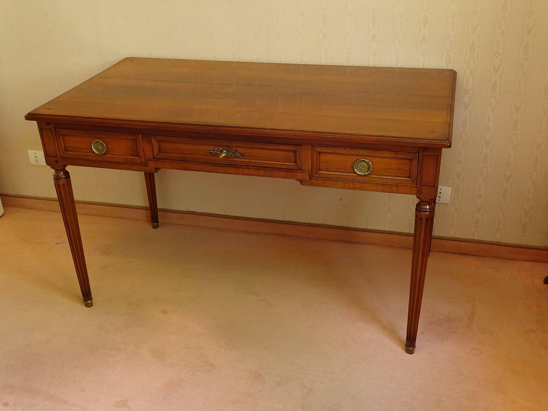 bureau style louis xvi en bois teinte auctions price archive