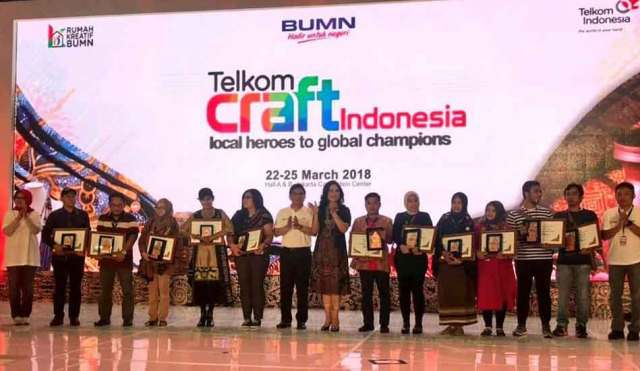 Good Job, Dahliana Ina Pie Dinobatkan Juara di Telkom Craft Indonesia 2018